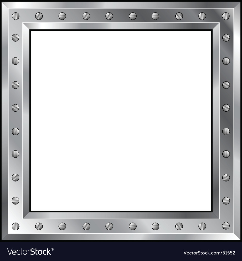 Metal frame with bolts Royalty Free Vector Image