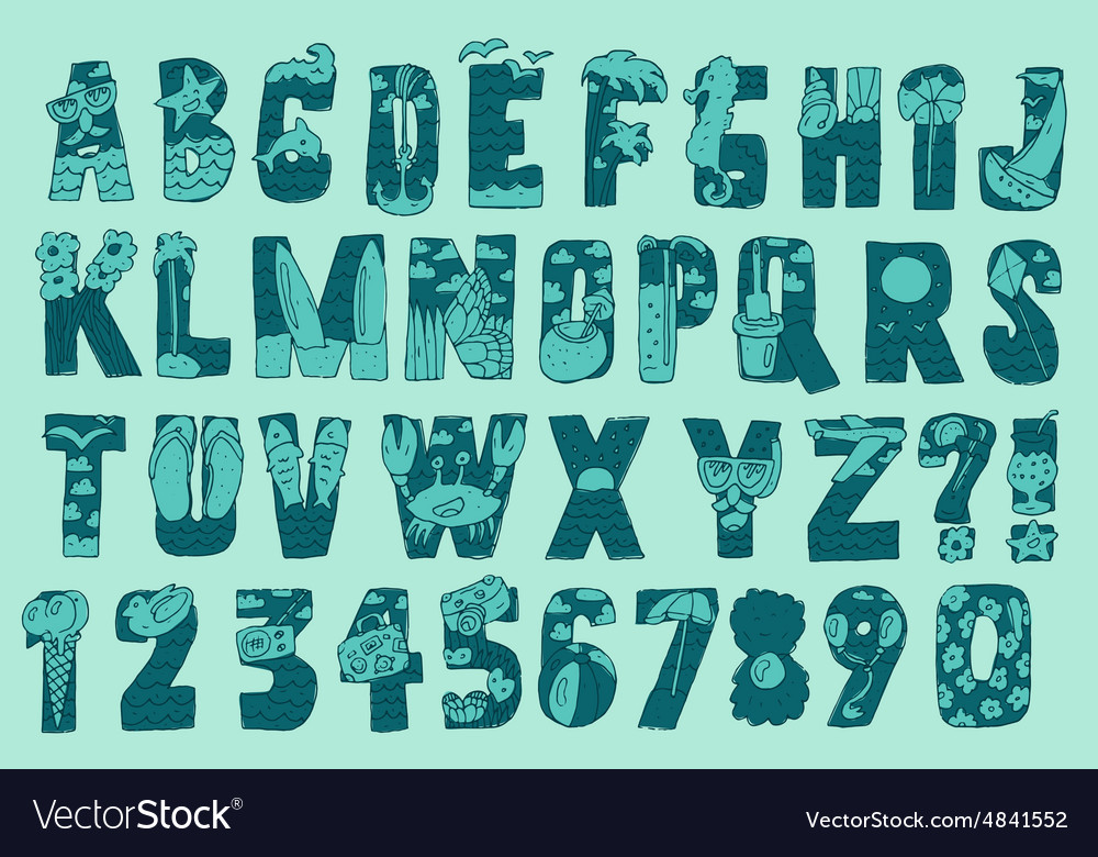 Original Summer Beach Font Type
