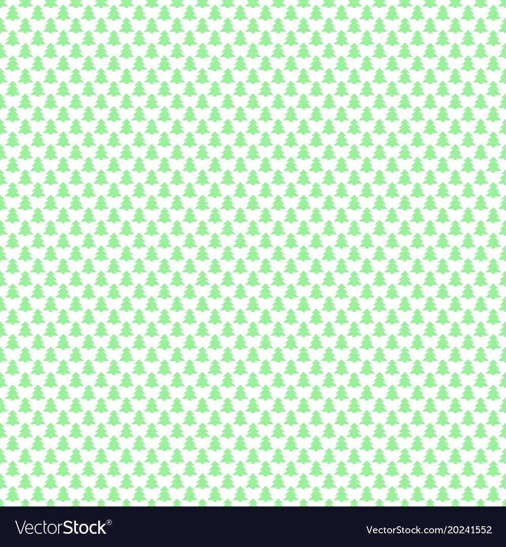 Seamless geometrical pine tree forest pattern