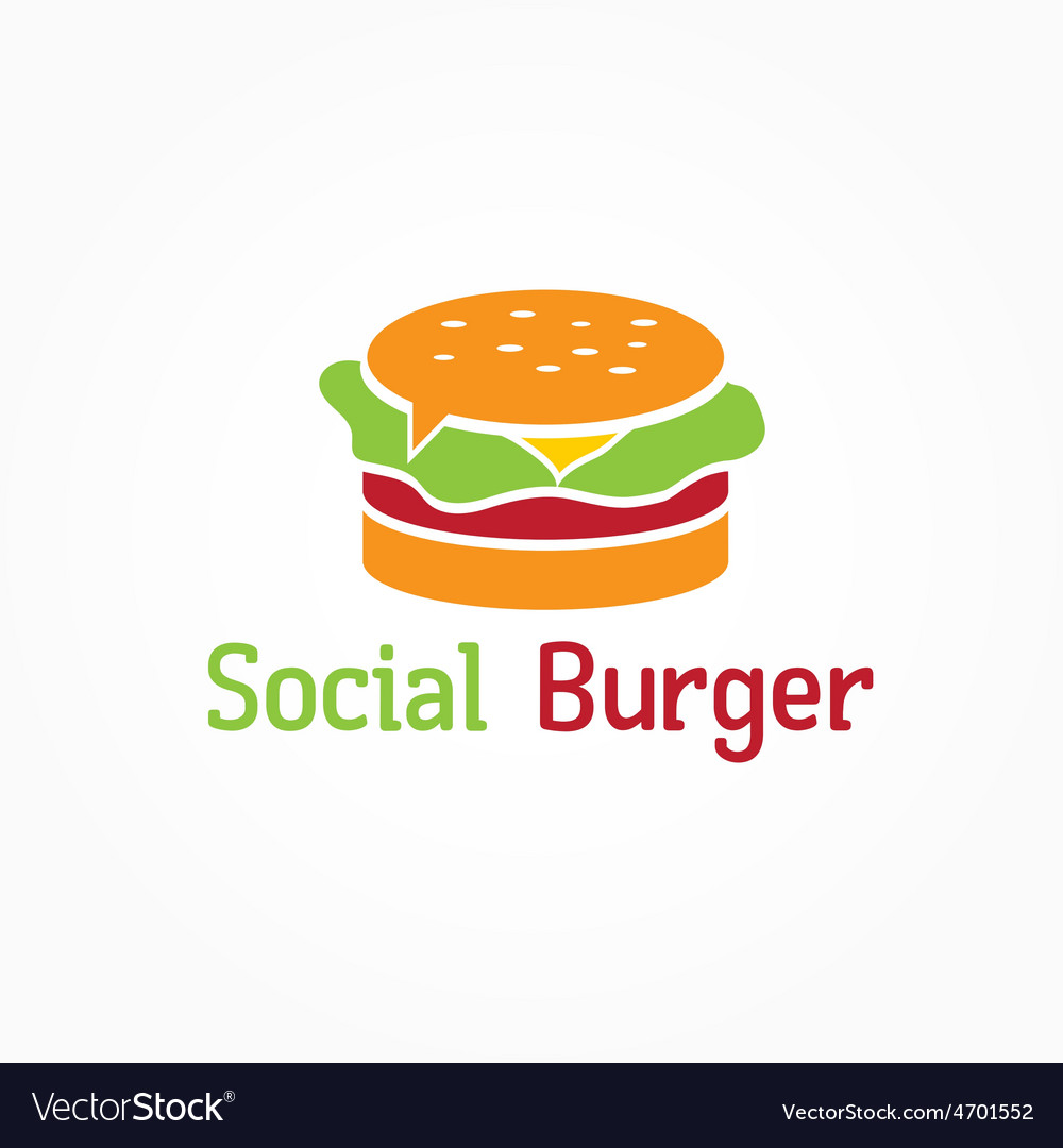 social burger design template royalty free vector image
