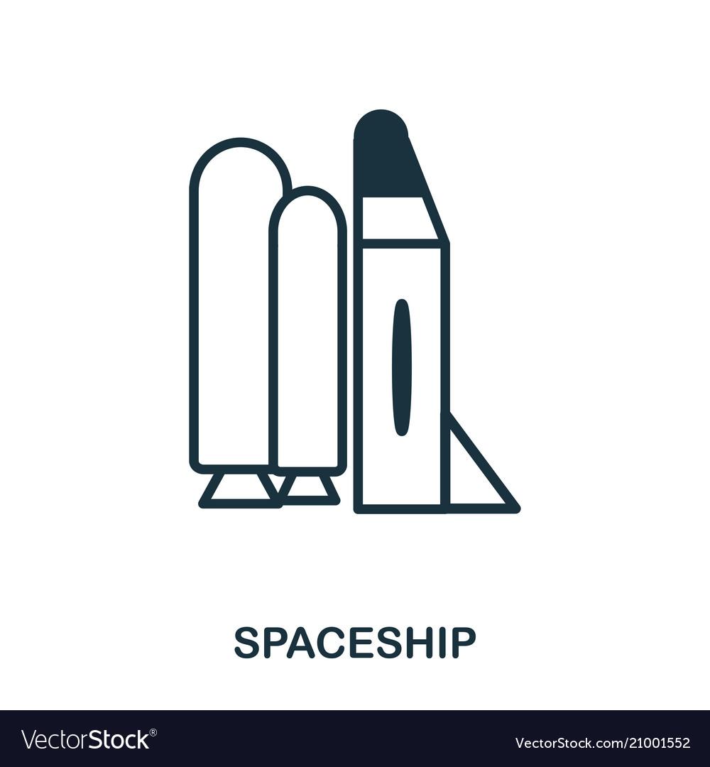 Spaceship icon flat style icon design ui