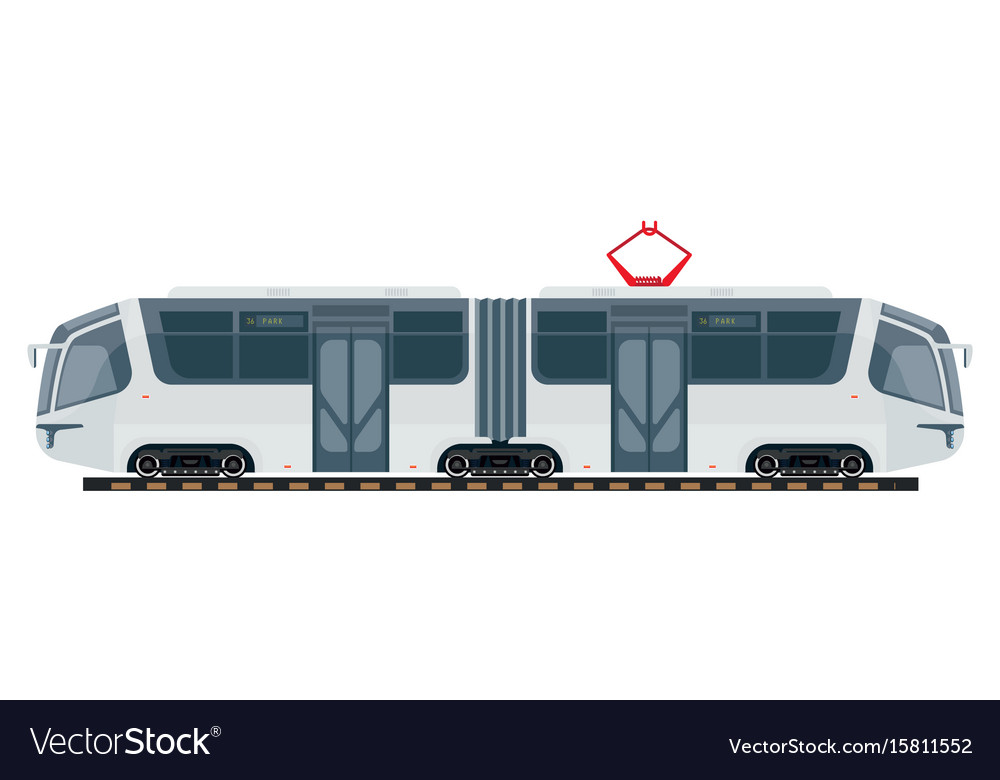 Tram public transport or tramcar modern