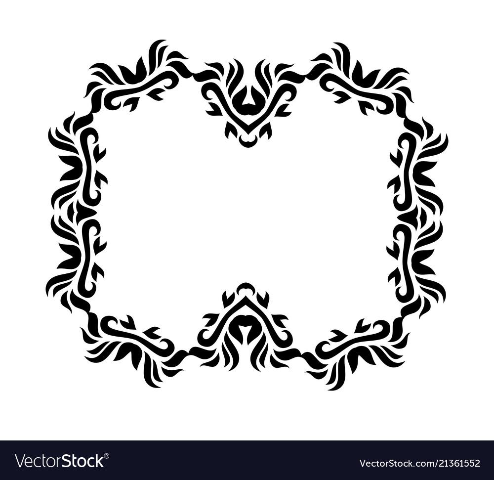Vintage black floral design ornamental