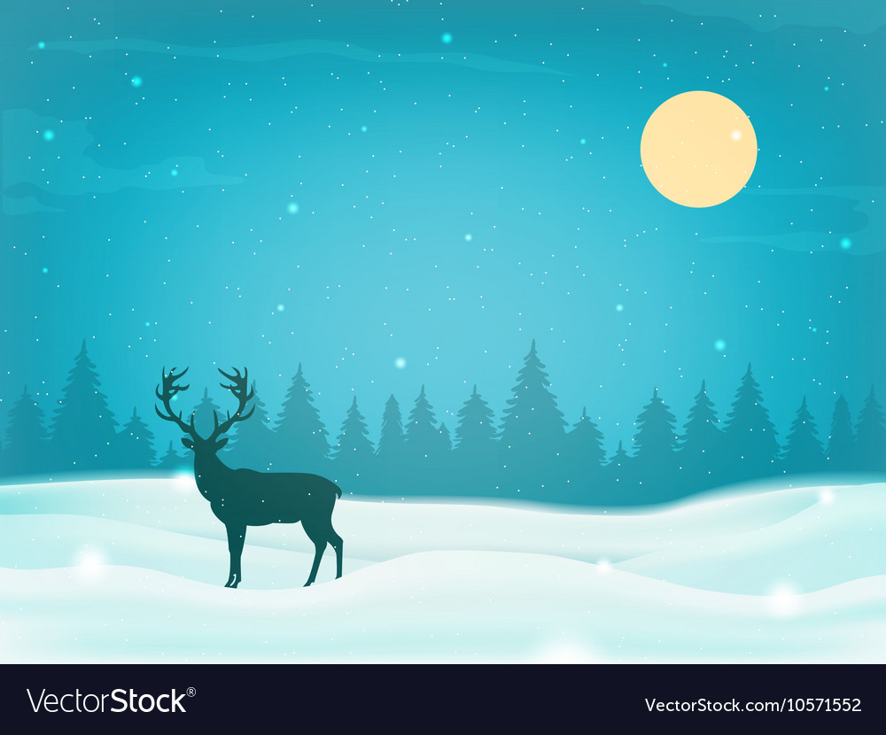 Winter landscape background with winter tree and