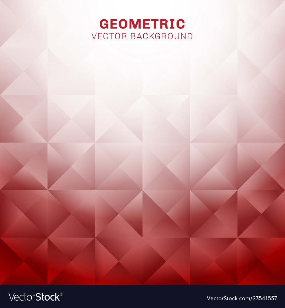 Abstract geometric triangles pattern red