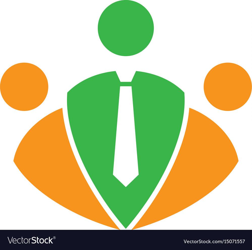 Abstract teamwork business