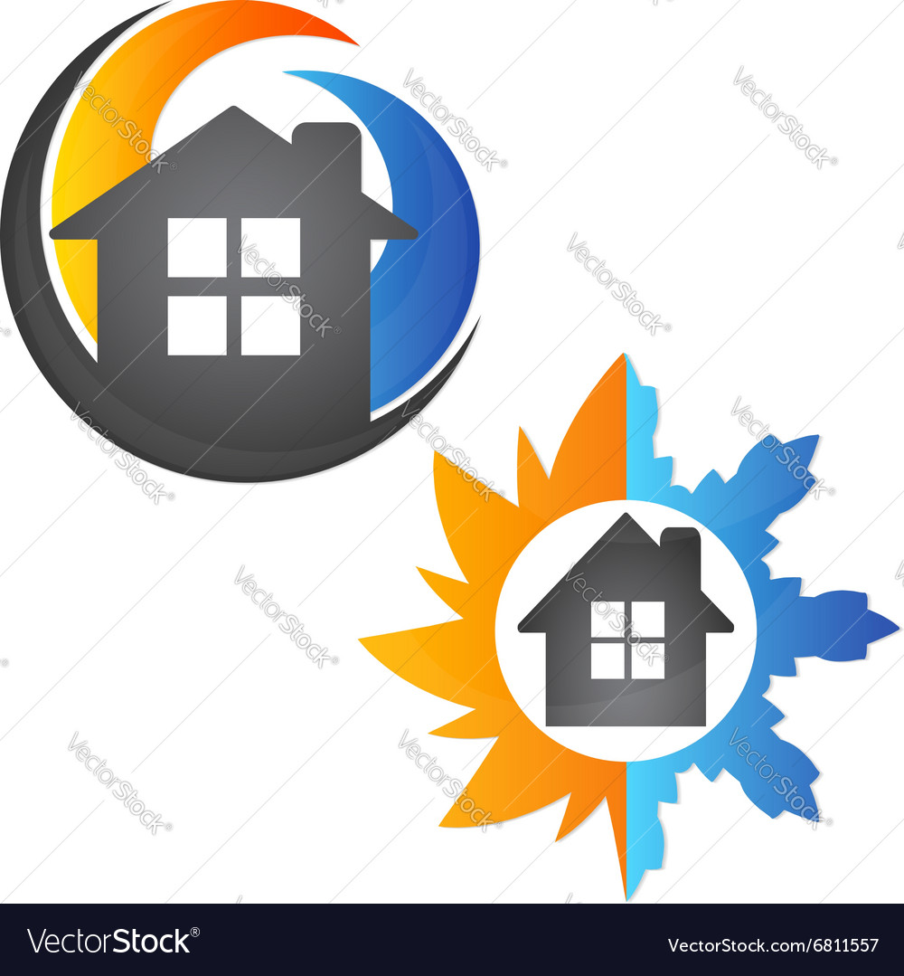 Air conditioning house vector image
