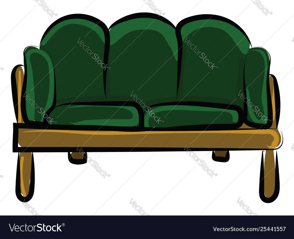 Pleasant Drawing A Green Colored Sofa Or Color Ocoug Best Dining Table And Chair Ideas Images Ocougorg