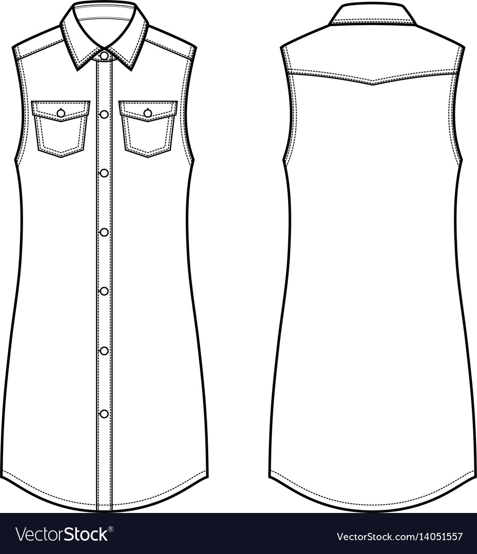 Jean dress front and back