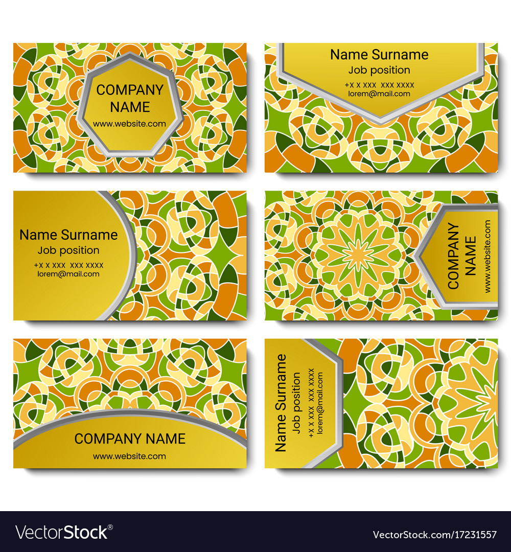 Set of visiting card with mandala