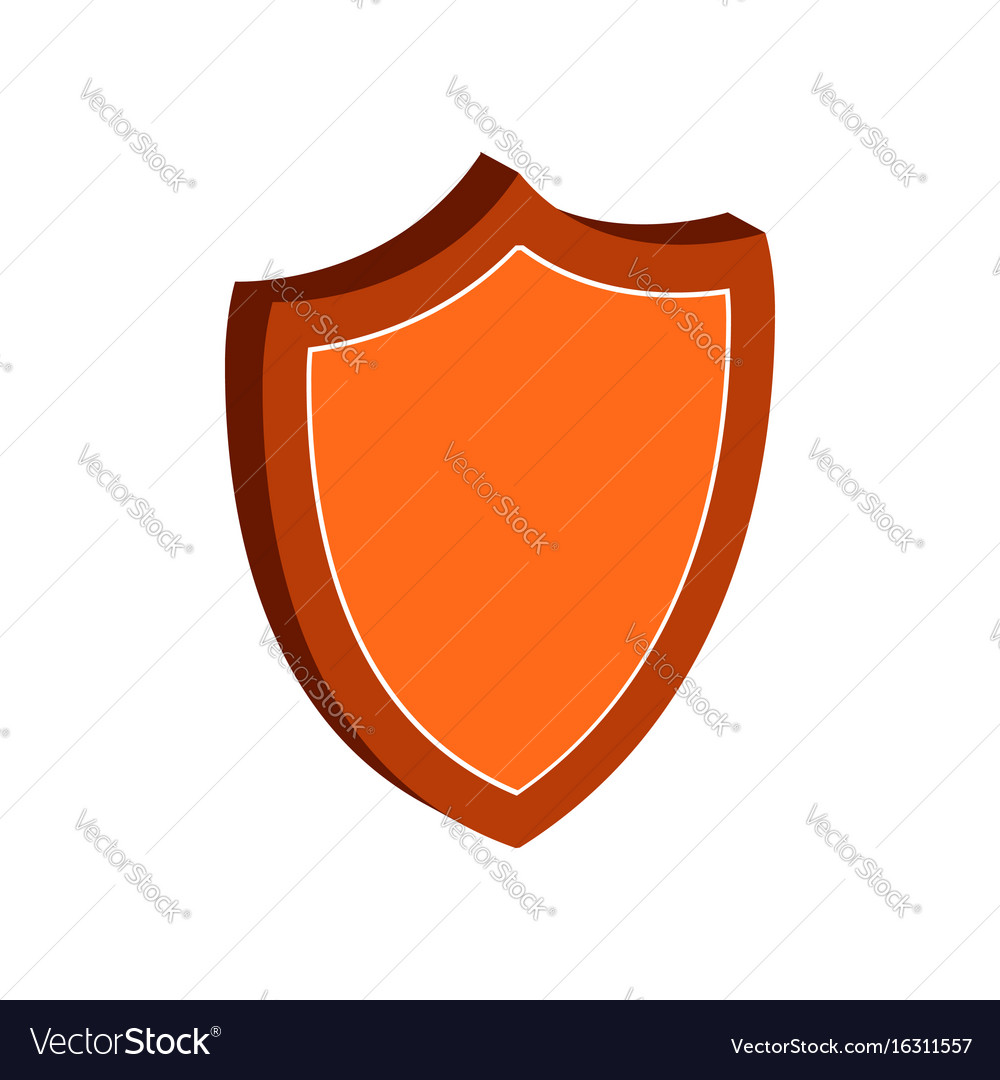 Shield protection symbol flat isometric icon or