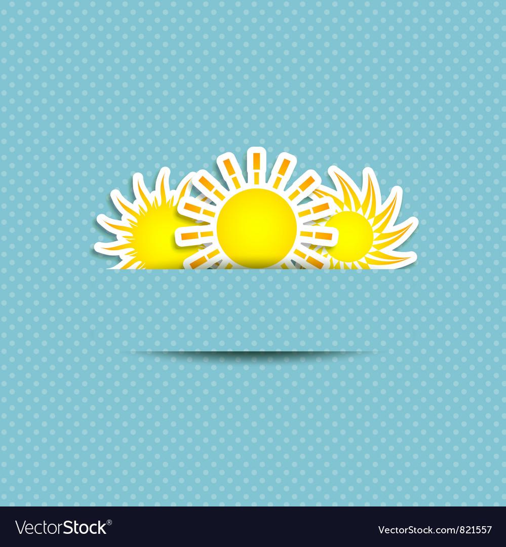 Sun symbol background vector image
