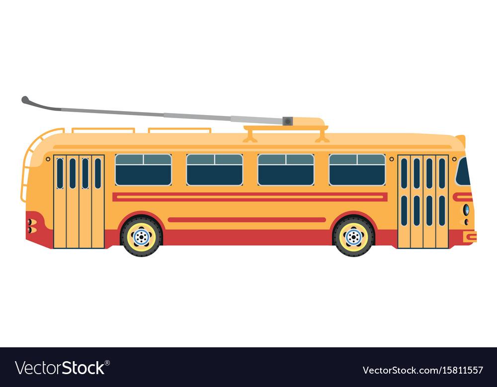 Trolleybus public transport or electric trolley