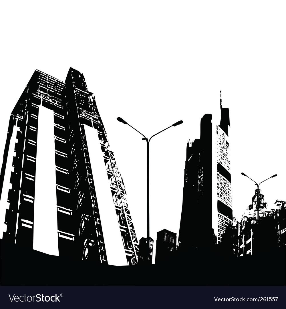 urban city royalty free vector image vectorstock rh vectorstock com city factors city factory