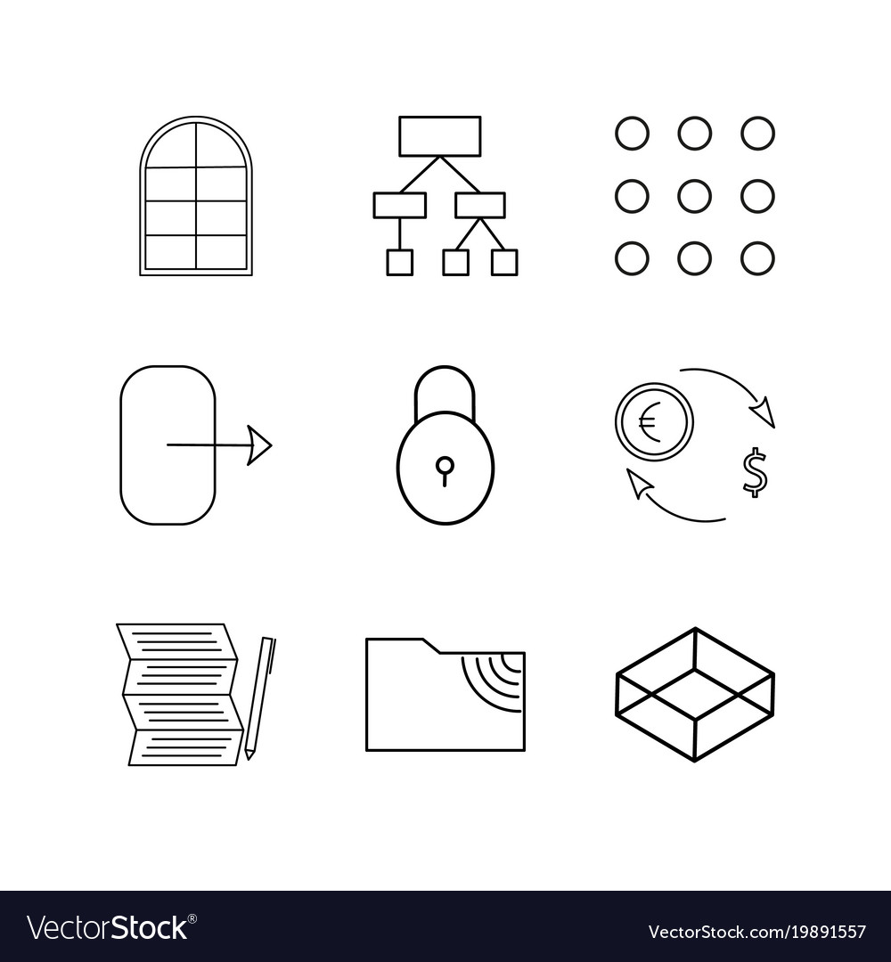 Web linear icon set simple outline icons