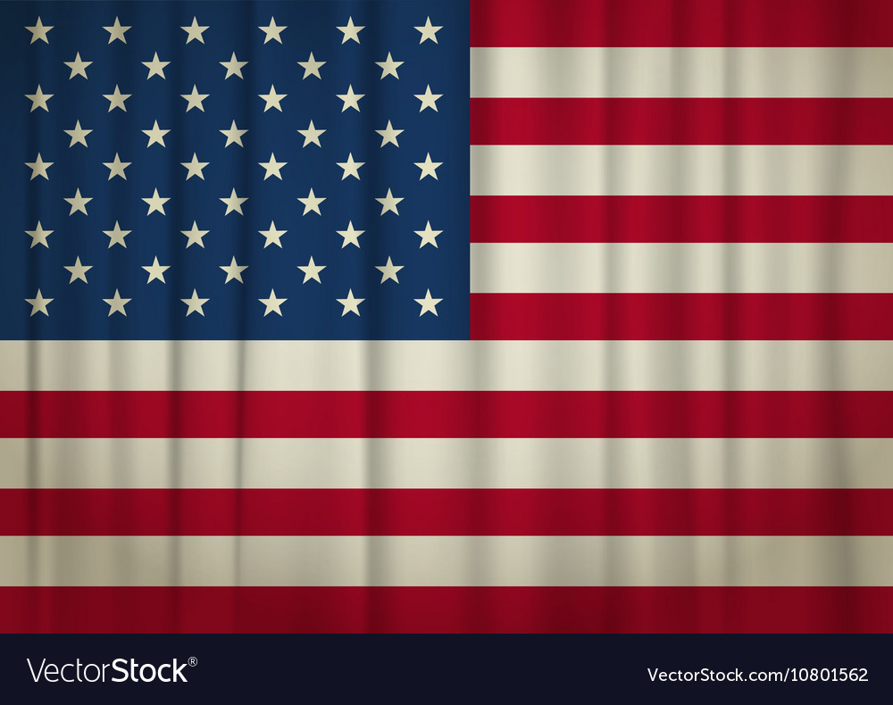 Curtain USA vector image