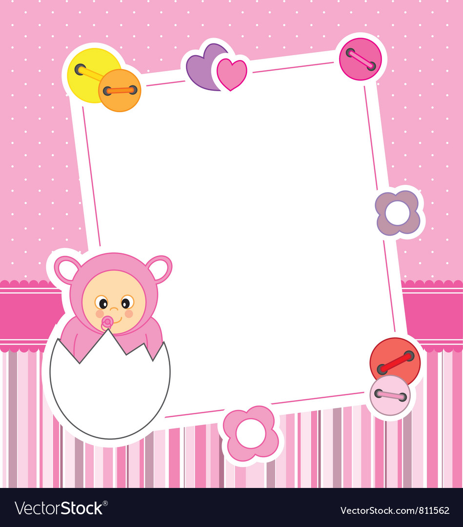 Frame baby girl Royalty Free Vector Image - VectorStock