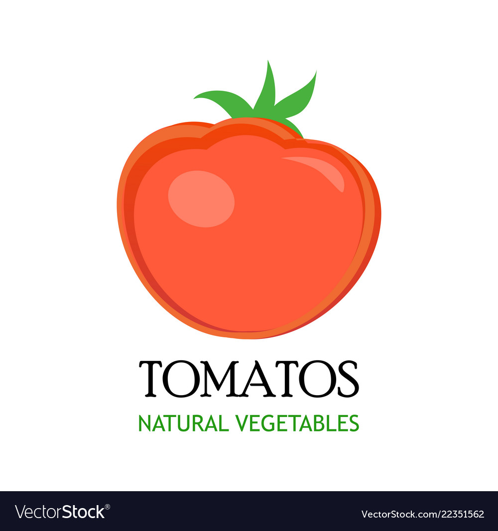 Logo for market with natural vegetables