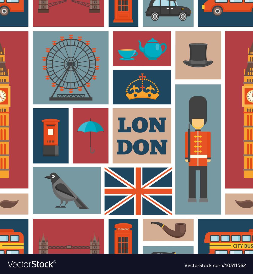 London Seamless Pattern