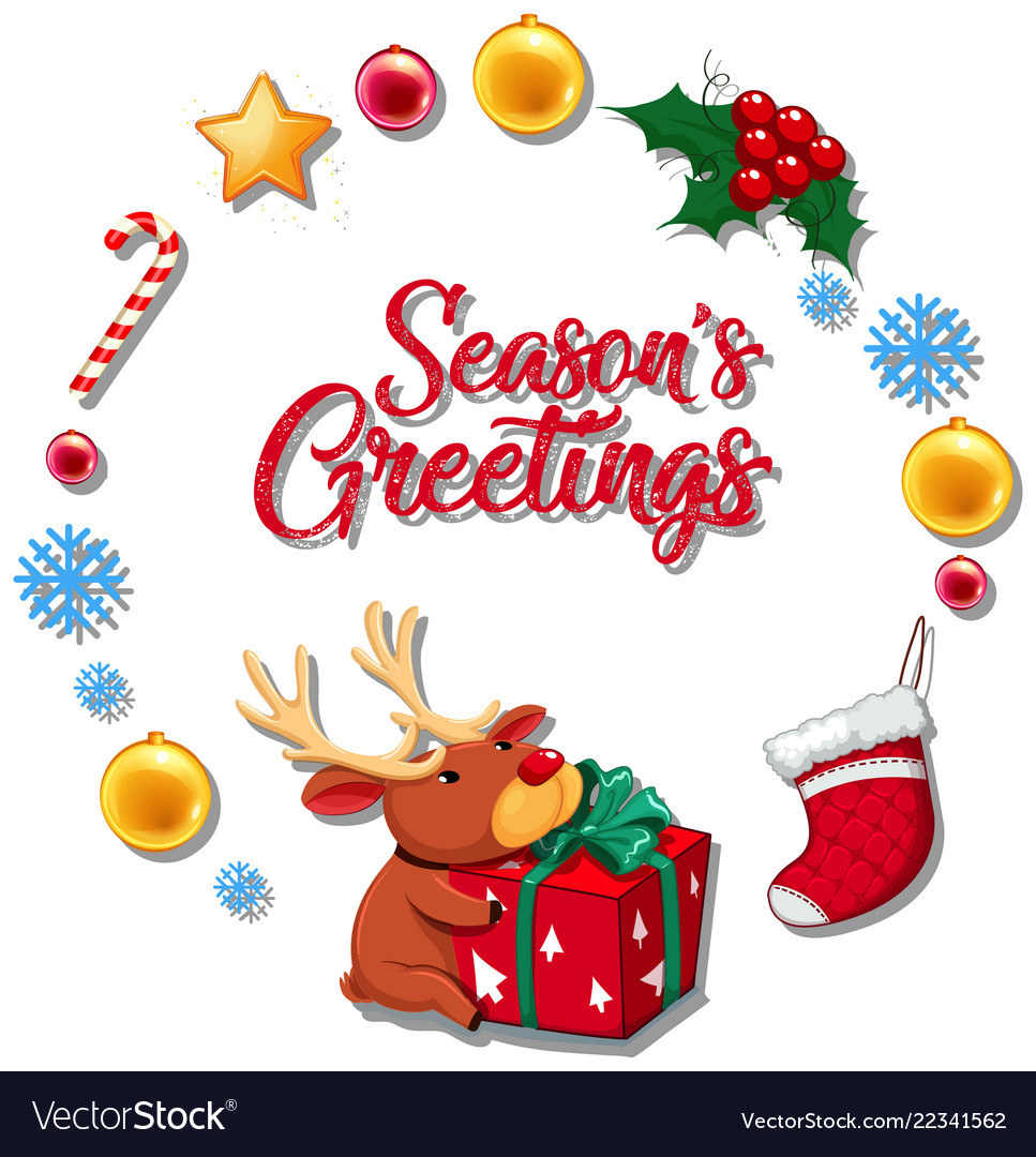 season greetings concept card royalty free vector image