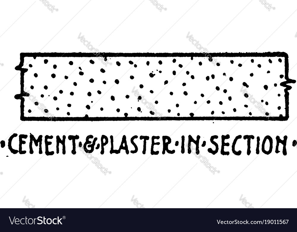 Cement And Plaster In Section Material Symbol Vector Image