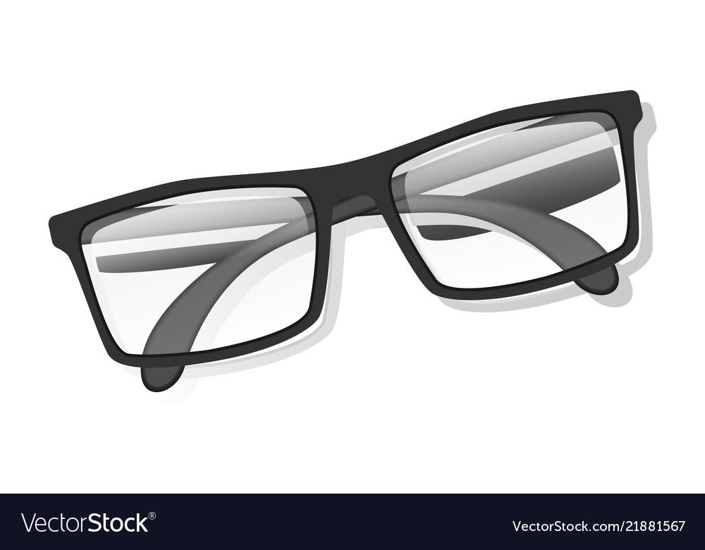 Classic glasses icon realistic style