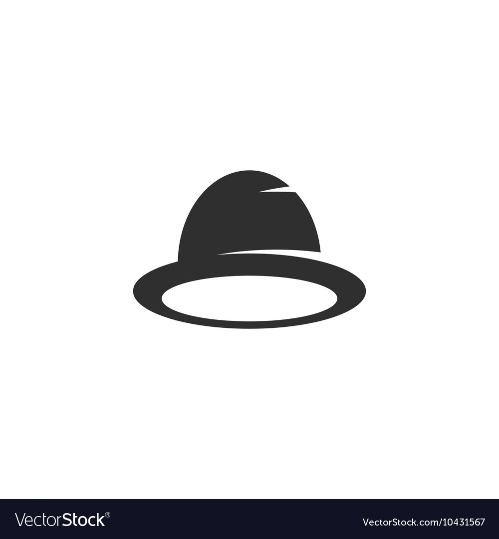 Hat icon isolated on white background