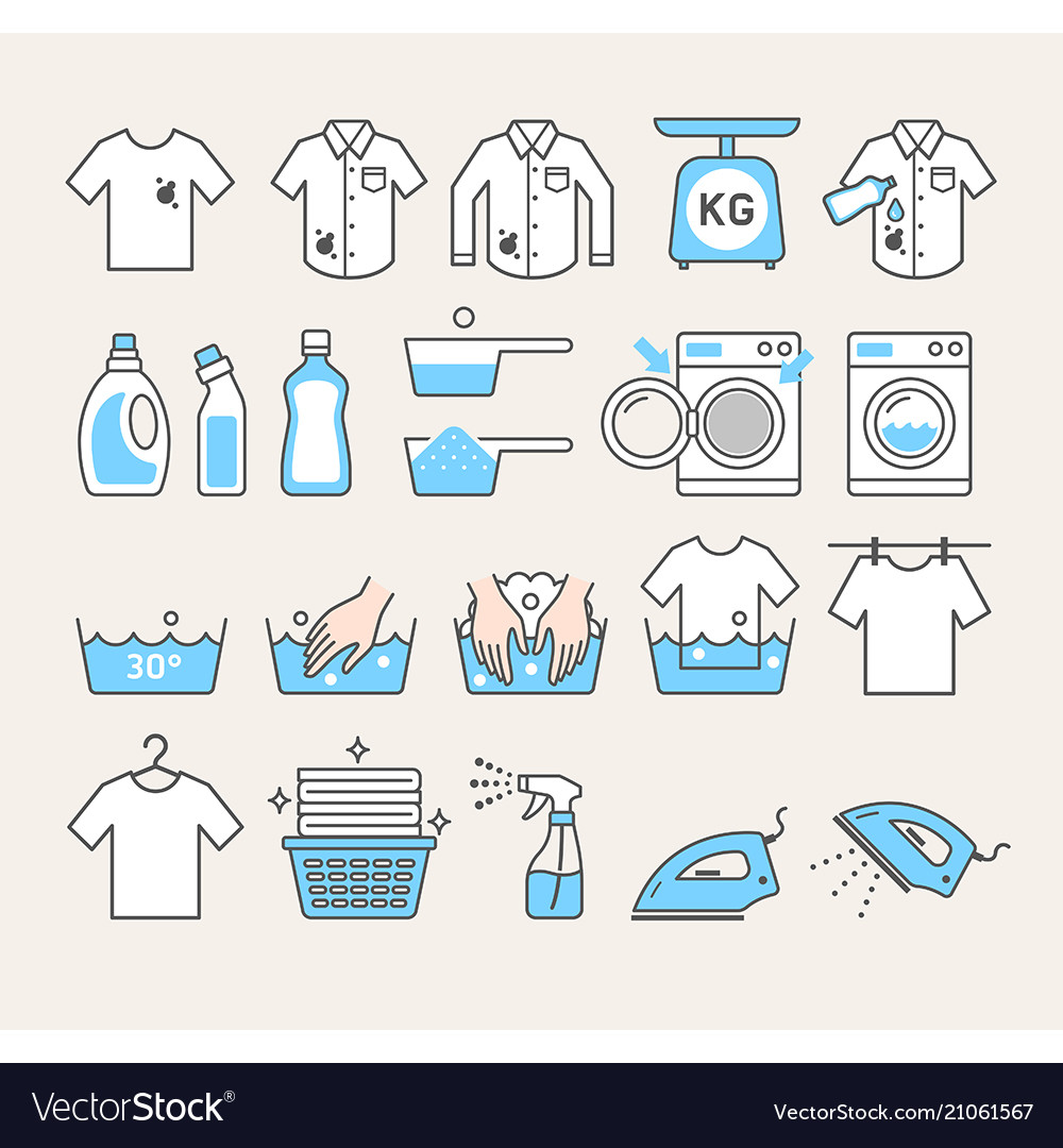 Laundry service icons
