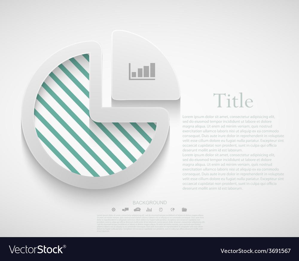 Modern diagram infographic