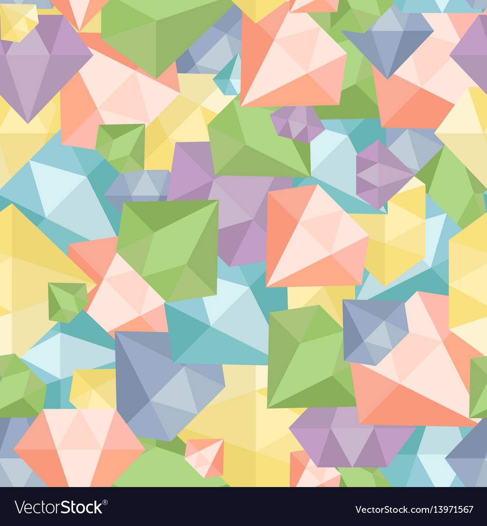 Pastel diamond seamless pattern abstract luxury vector image