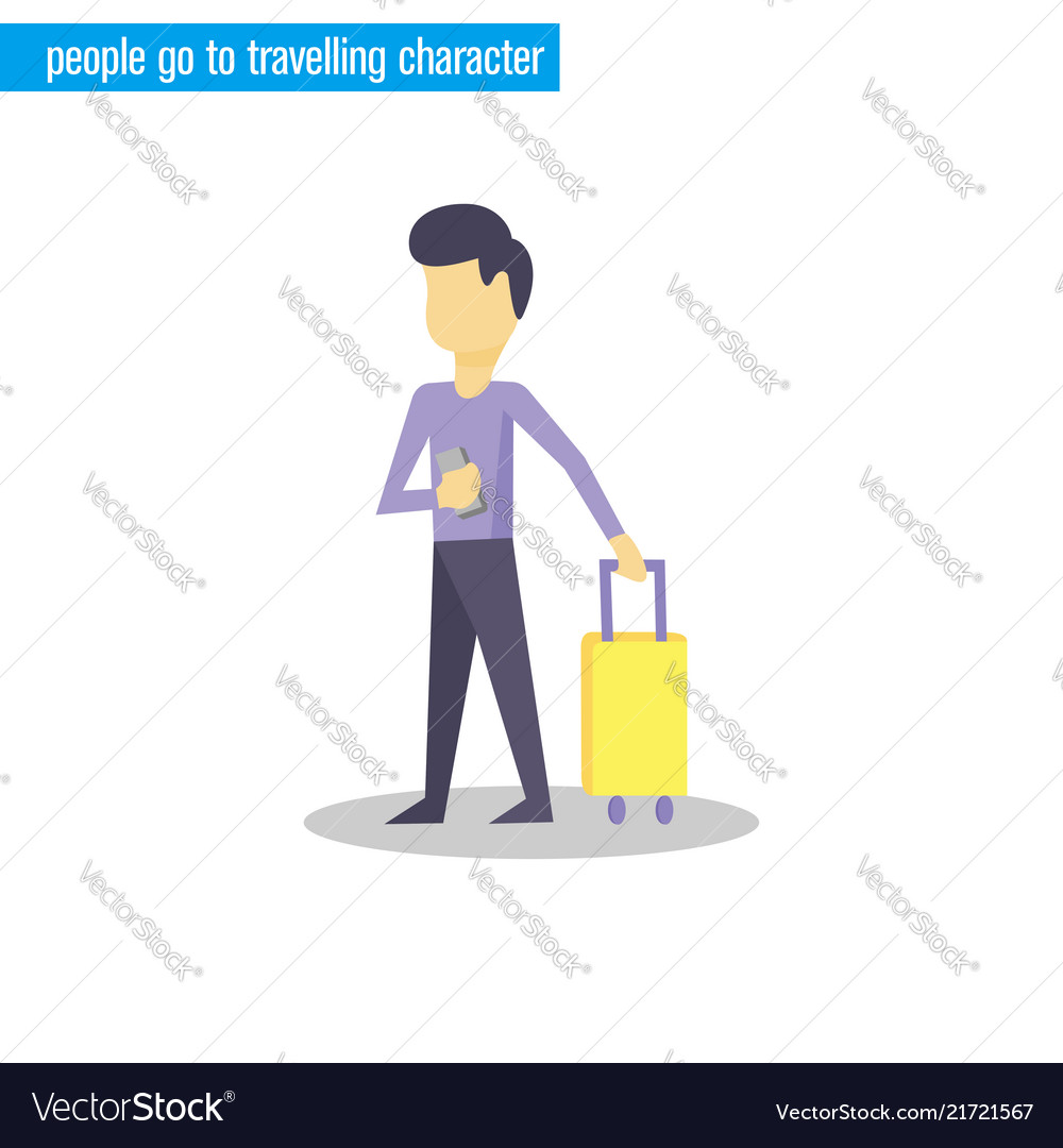 People go to travelling character
