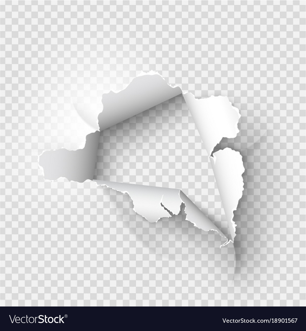 ragged hole torn in ripped paper royalty free vector image