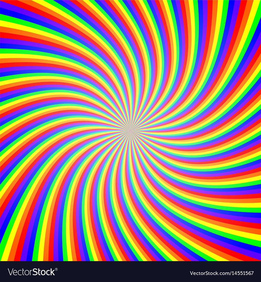 Rainbow twist abstract background