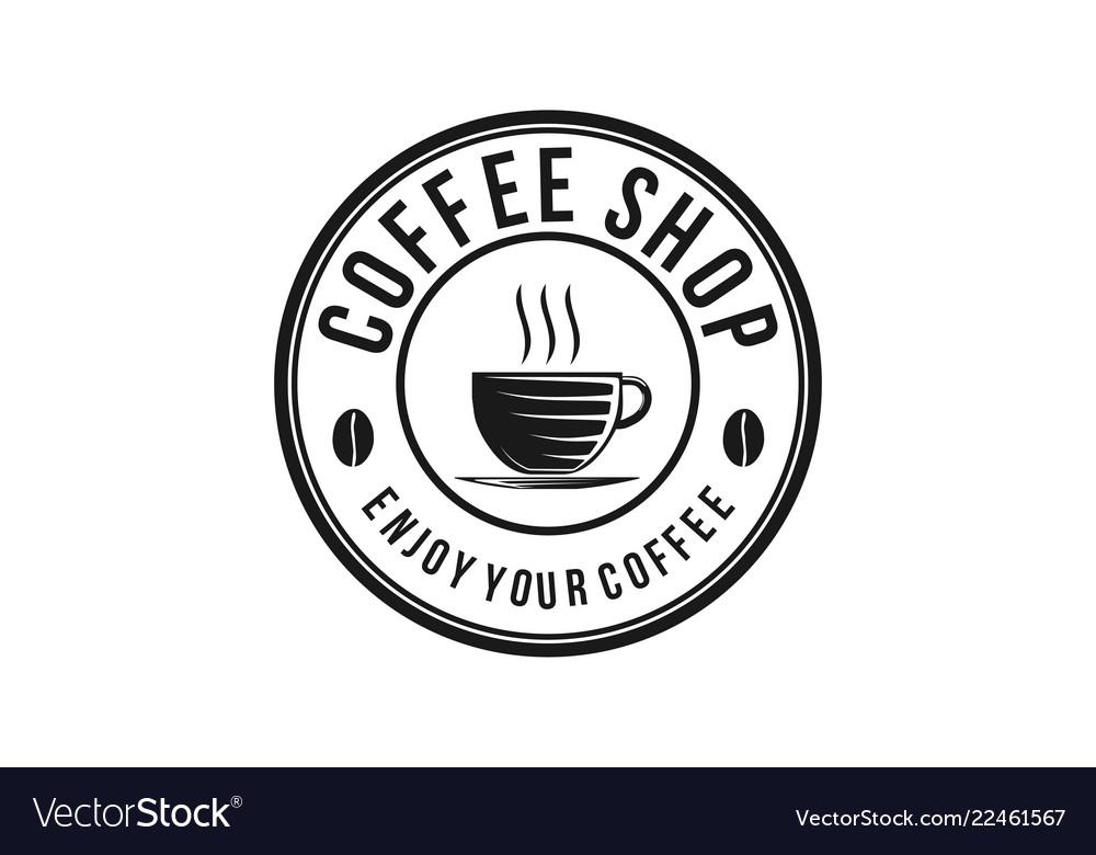 Steam coffee drinks and coffee cup coffee shop