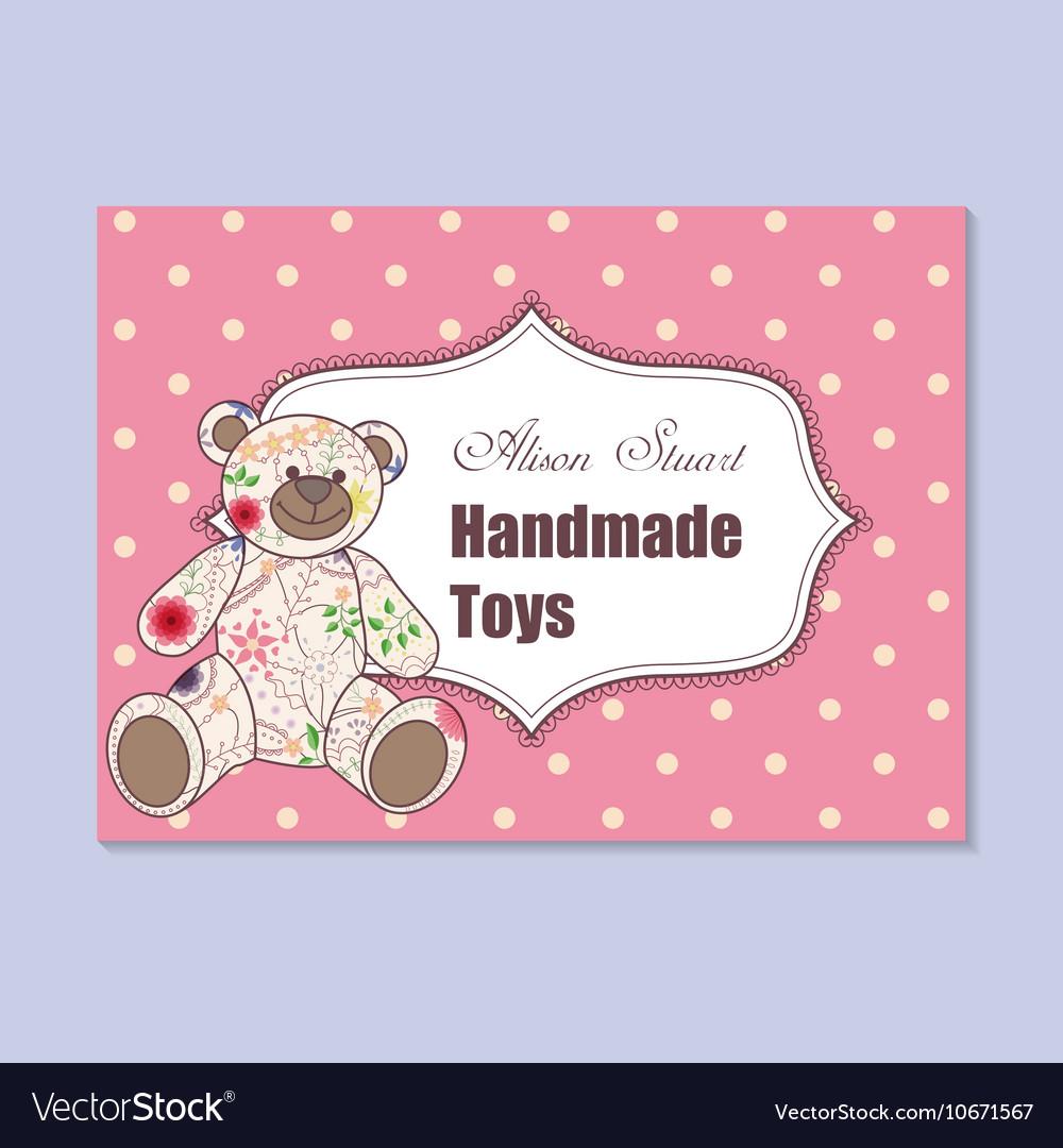 Vintage business card for handmade toys maker
