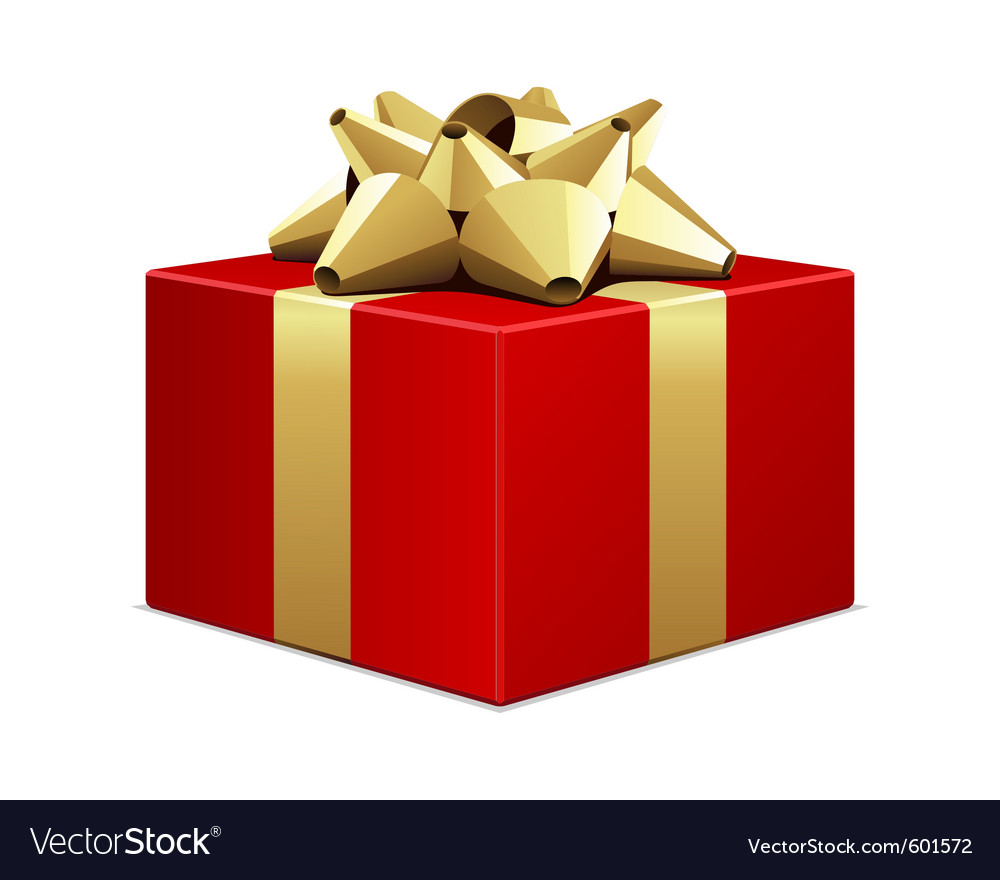 big red gift box royalty free vector image vectorstock