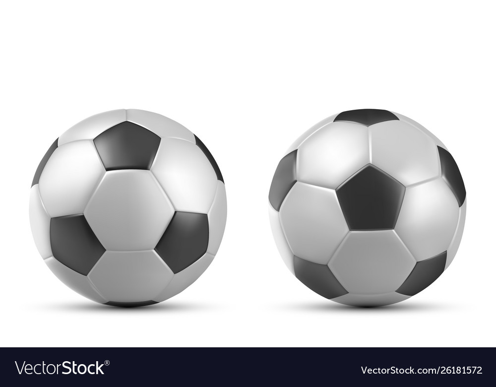Football soccer ball isolated on white background
