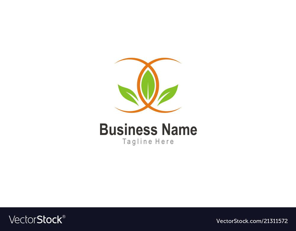 Green leaf beauty spa logo