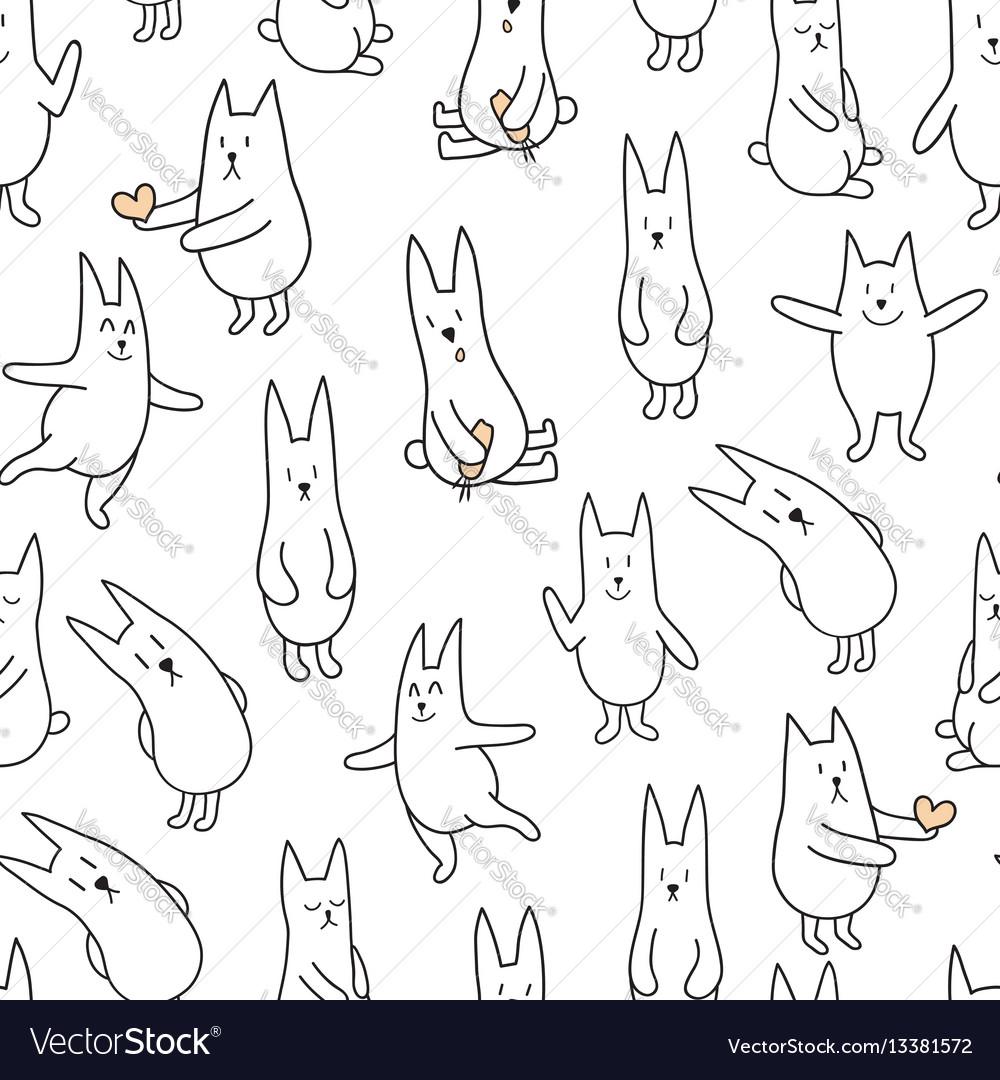 Monochrome rabbits