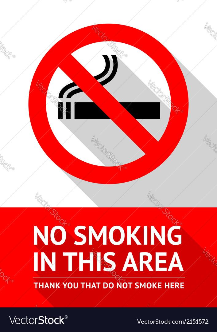 No smoking sticker flat design vector image