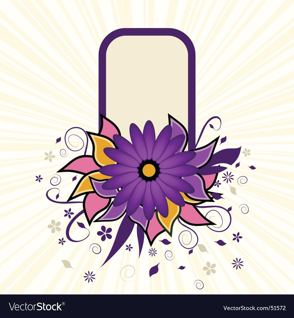 Portrait grunge flower text frame