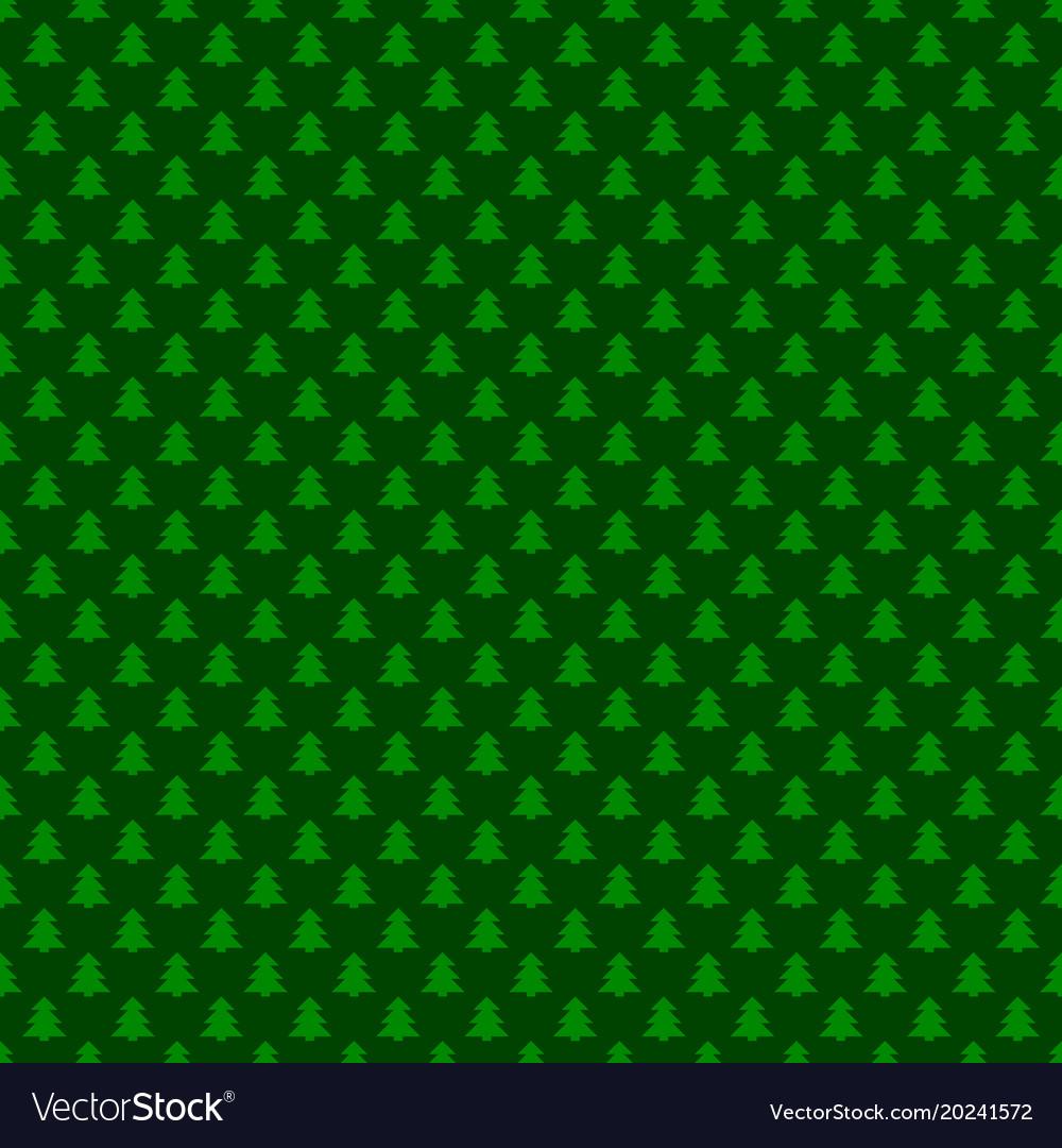 Seamless green simple geometrical xmas tree vector image