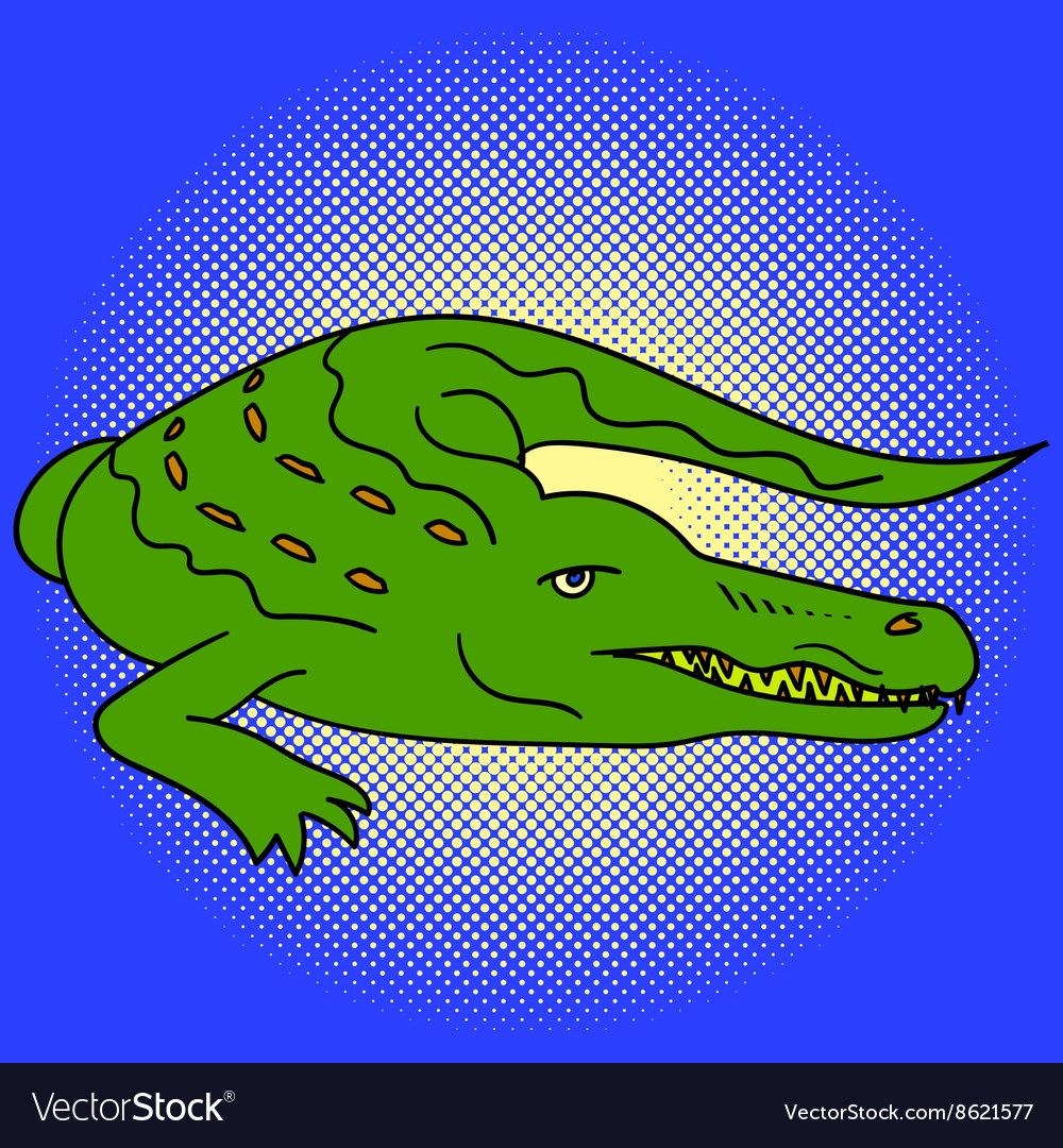 Alligator pop art