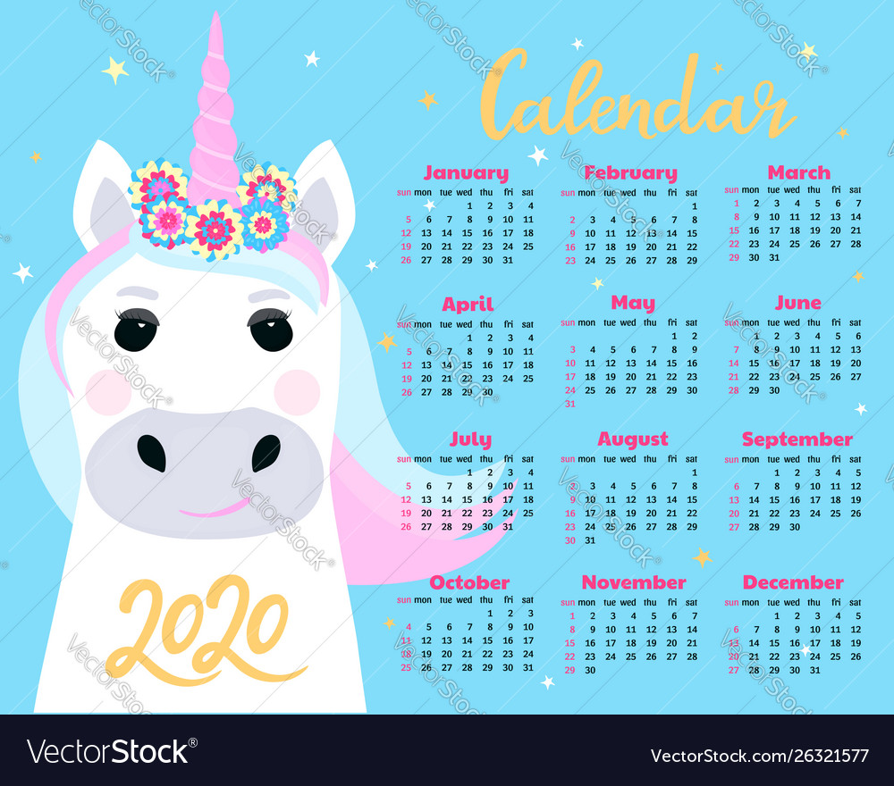 Kawaii Calendar 2020 September October And December Kawaii Schedule Vector Images (67)