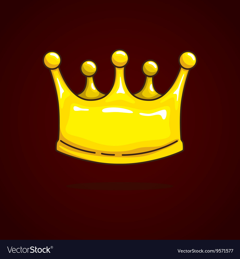 Crown Cartoon On Dark Red Background Royalty Free Vector Download and use them in your website, document or presentation. vectorstock