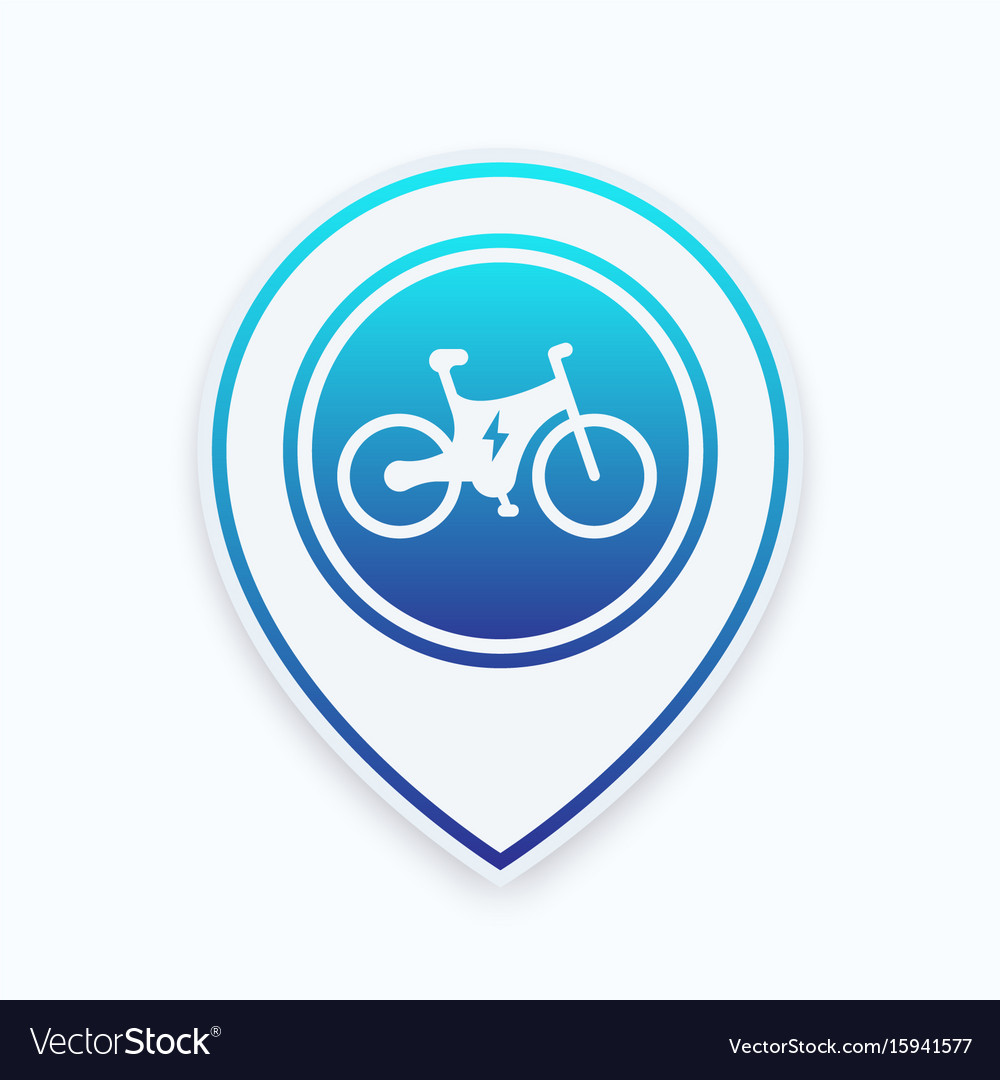 Electric bike icon on map pointer