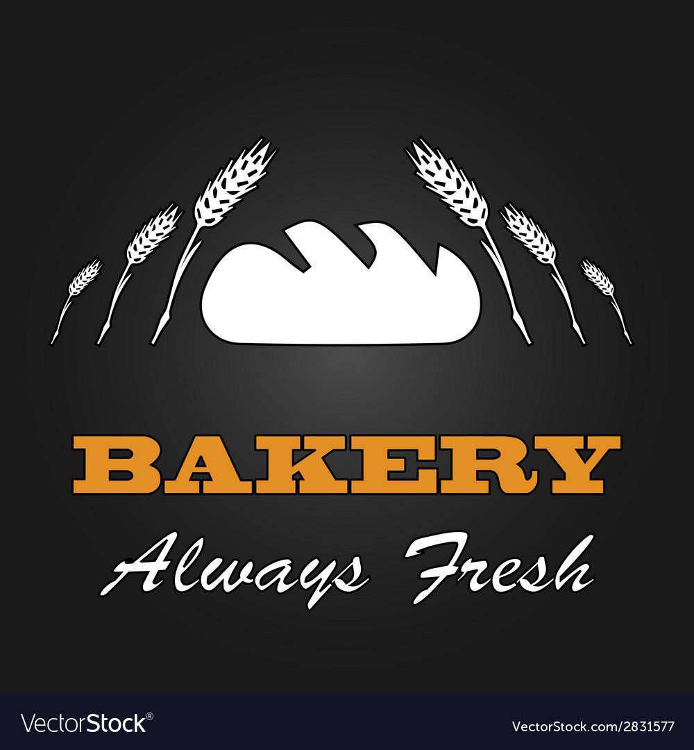 Fresh bread vintage design menu poster