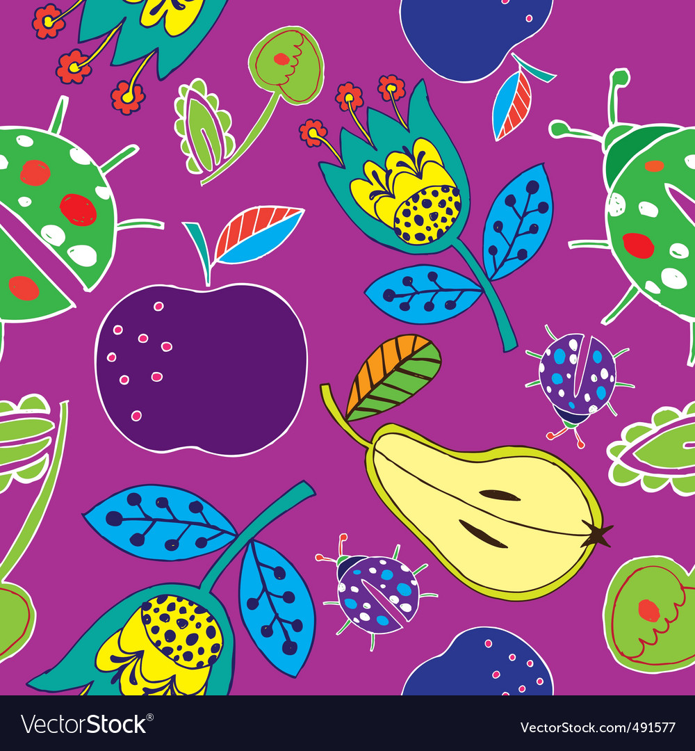 Fruits print vector image