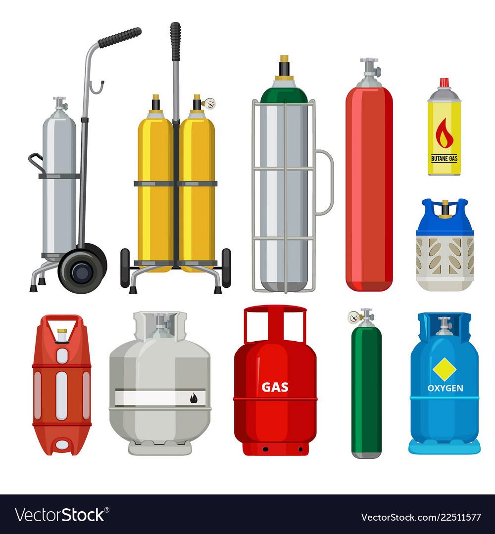 Gas cylinders butane helium acetylene propane