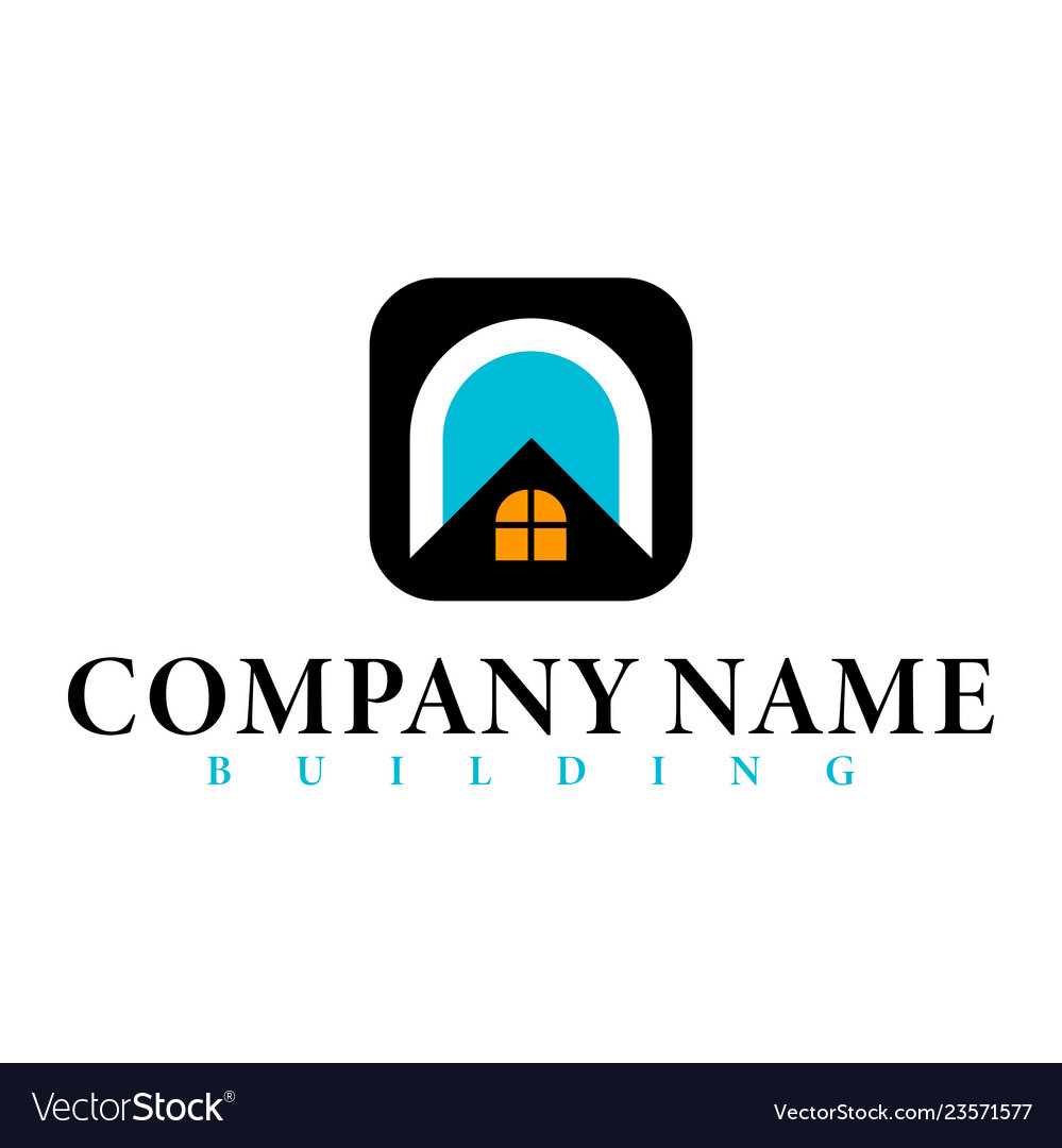Real estate initial letter n logo design template